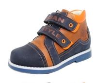 Baby Orthopedic Shoes  Ботинки 137-142т.синий/рыжий
