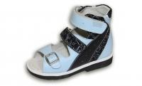 ОРТОДОН сандалии завышенный жёсткий берец 2111-2 голубой/черный