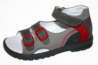 Тотто сандалии серый/красный
