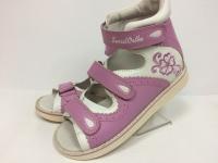 Sursil Ortho сандалии завышенный жесткий берец 15-304 бело/розовый
