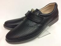 Mini-shoes туфли школьные чёрный/кожа