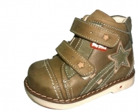 .MyMini ботинки 455-55-015-01 коричневый/звезда