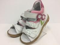 Minitin сандалии 1001 белый/розовый