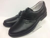 .Minitin туфли школьные черный/липучка
