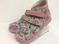 Тотто  ботинки розовый/букет