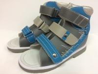 ОРТОДОН сандалии завышенный жёсткий берец  2703 т.серый/голубой/св.серый
