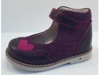 Baby Orthopedic Shoes туфли т.фиотетовый с сердцем