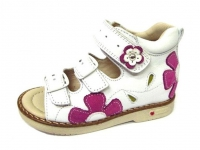 .MyMini сандалии белый с розовым цветком 118635