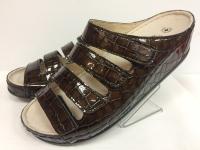 Женская обувь LUOMMA кор/болото/крокодил