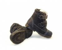 Baby Orthopedic Shoes  Ботинки ОСЕНЬ/ВЕСНА черный/малина