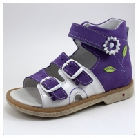 Minitin сандалии 8030  белый/фиолетовый